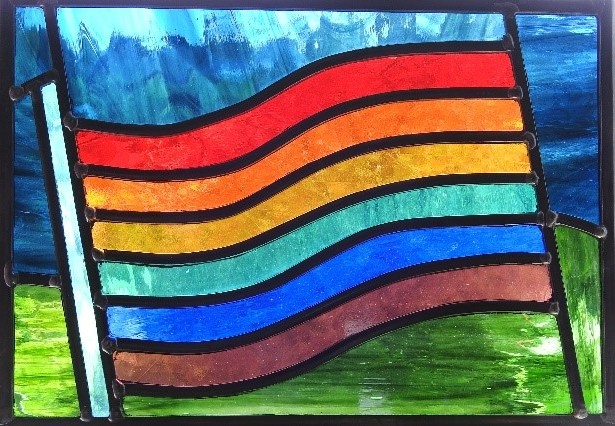 Rainbow window for logo2