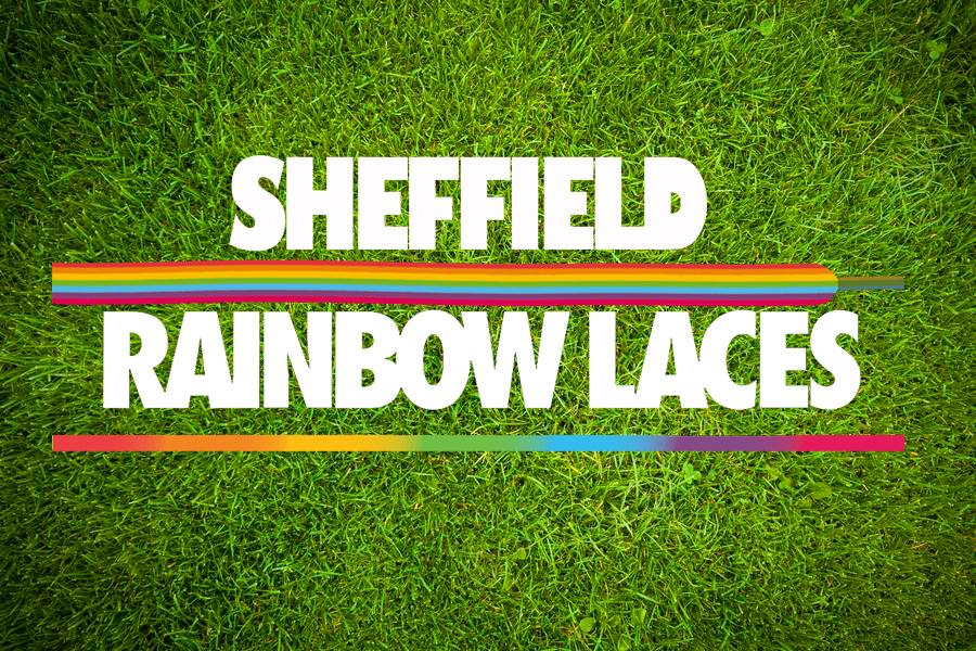 Rainbow laces white dark background-893d8982